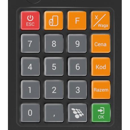 Gumowa pokrywa mechanicznej klawiatury kasy NEXT