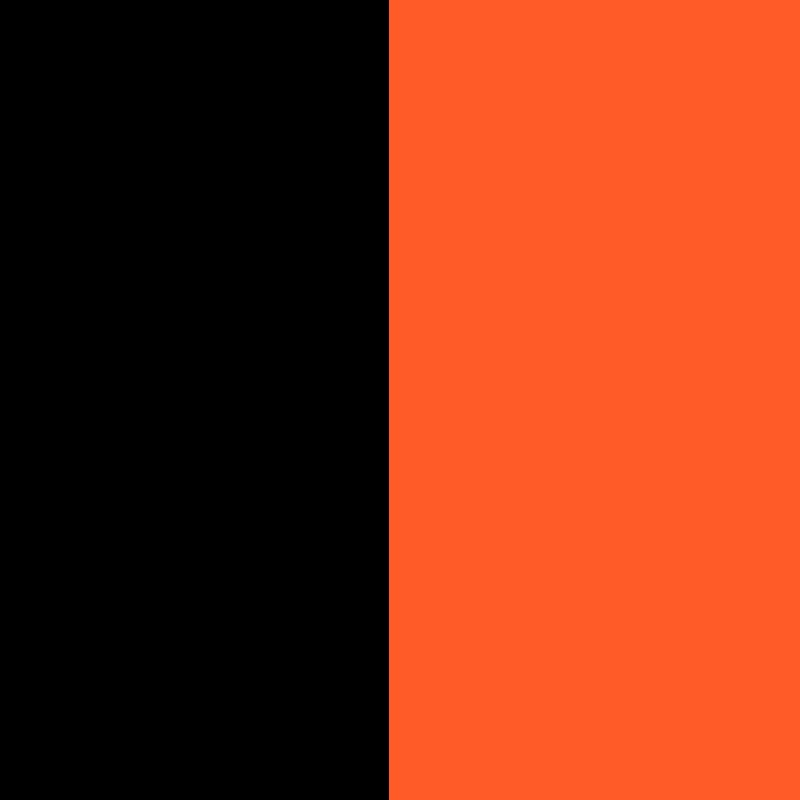 Kasa w pomarańczowo-czarnej obudowie